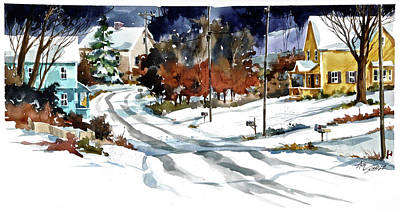 Painting - Overnight Snow by Art Scholz