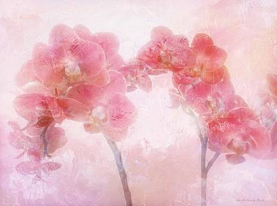 Photograph - Orchid Collection 'overpainting' by Gabriella Weninger - David