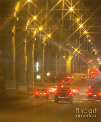 Art Print featuring the photograph Overpass Traffic by Linda Phelps