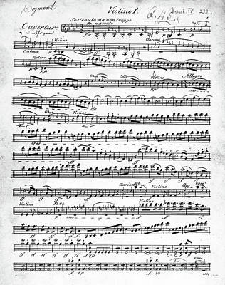 Composition Drawing - Overture To Egmont by Beethoven