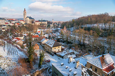 Photograph - Overview Of Kutna Hora In Winter Time by Jenny Rainbow