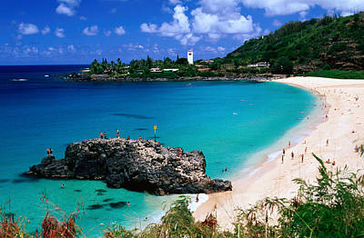 Hawaii Wall Art - Photograph - Overview Of Waimea Bay On The North Shore, Waimea, United States Of America by Ann Cecil