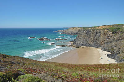 Sea Photograph - Overview Of Zambujeira Do Mar Beach by Angelo DeVal