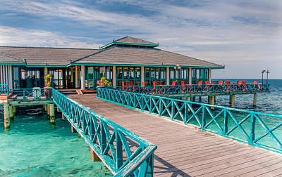 Photograph - Overwater Restaurant In Maldivian Resort by Jenny Rainbow