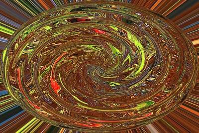Digital Art - Ovoid Twirl Janca Abstract 1120 Wpctw2d by Tom Janca