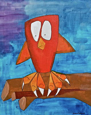 Art Print featuring the painting Owel by Donna Howard