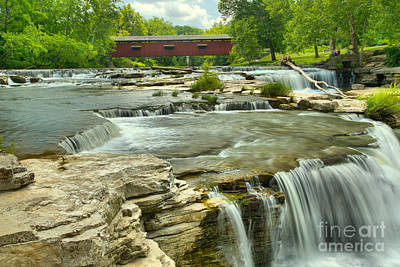 Photograph - Owen County Cataract Falls by Adam Jewell