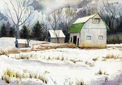 Owen County Winter Art Print by Katherine Miller