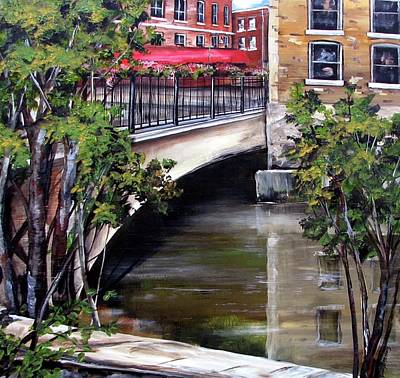 Owens River Painting - Owen Sound Bridge by Jennifer Stenberg
