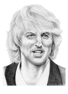 Famous People Drawing - Owen Wilson by Murphy Elliott