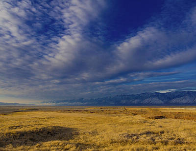 Owens Lake And The Coso Mountains Art Print