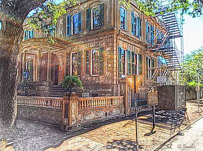 Digital Art - Owens Thomas Mansion by Anne Sands