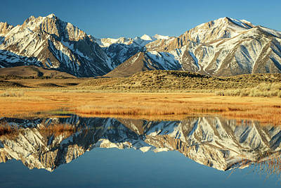 Photograph - Owens Valley Reflections by Johnny Adolphson