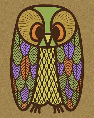 Digital Art - Owl 2 by Donna Mibus