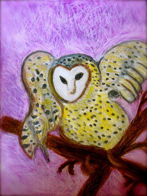 Abstact Landscapes Painting - Owl Abstract by Susan Stader