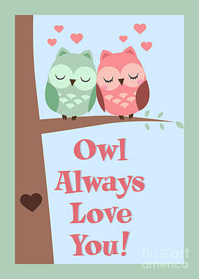 Digital Art - Owl Always Love You by JH Designs