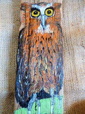 Mixed Media - Owl by Ann Michelle Swadener
