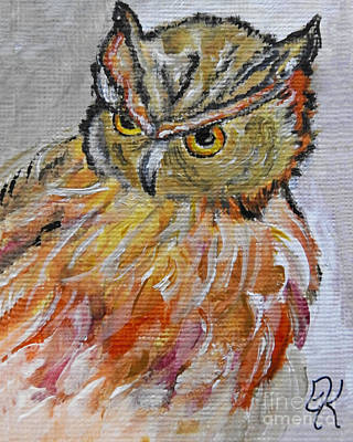 Painting - Owl Art by Ella Kaye Dickey