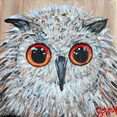 Painting - Owl Be Seeing Ya by JoNeL Art
