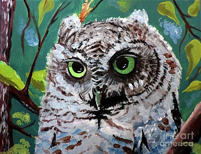 Painting - Owl Be Seeing You by Tom Riggs
