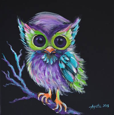 Painting - Owl Be Your Friend by Agata Lindquist