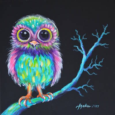 Painting - Owl Be Your Girlfriend by Agata Lindquist