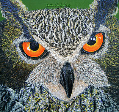 Painting - Owl Capone by Debbie Chamberlin