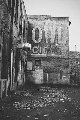 Manufacturing Photograph - Owl Cigar- Walla Walla Photography By Linda Woods by Linda Woods