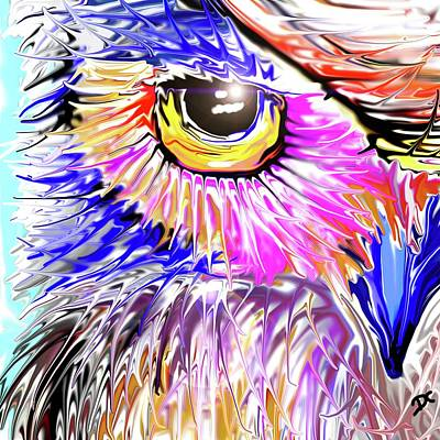 Digital Art - Owl Concern by Darren Cannell