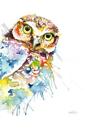 Owl Curious Art Print
