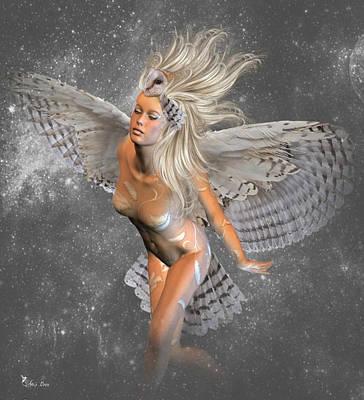 Digital Art - Owl Dance by Ali Oppy