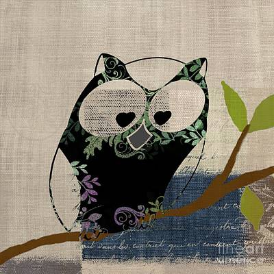 Digital Art - Owl Design - J140149146-v19 by Variance Collections