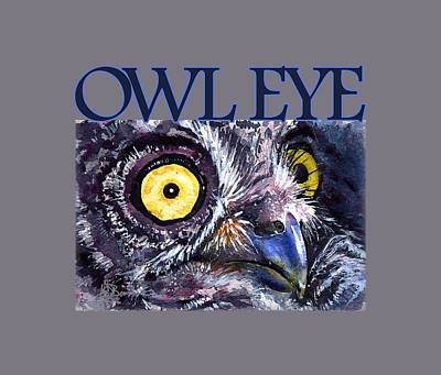 Painting - Owl Eye 21 Shirt by John D Benson