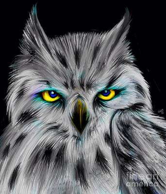 Art Print featuring the drawing Owl Eyes  by Nick Gustafson