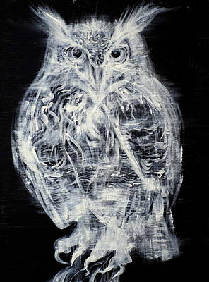 Painting - OWL by Fabrizio Cassetta