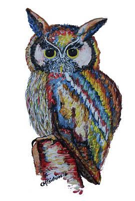 Painting - Owl For James by Carol Tsiatsios