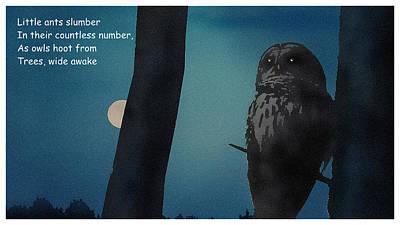 Digital Art - Owl Hoots by Al G Smith
