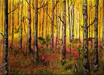Owl In The Woods Original by Ray Ratzlaff