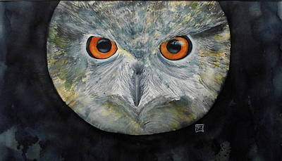 Painting - Owl Is Watching You by Ruth Trinczek