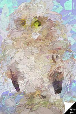 Art Print featuring the digital art OWL by Jim  Hatch
