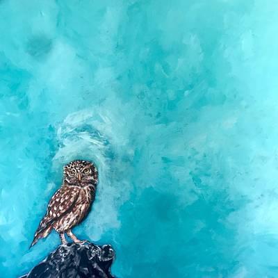 Painting - Owl by Joel Tesch