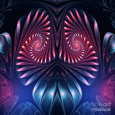 Art Print featuring the digital art Owl by Jutta Maria Pusl