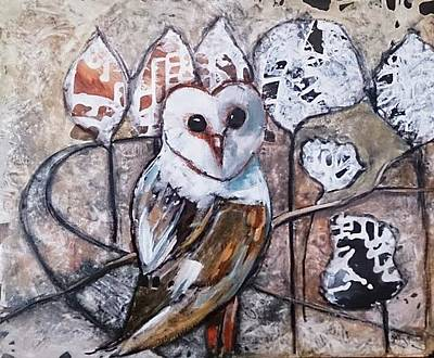 Painting - Owl by Kathy  Karas