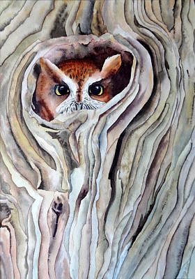 Painting - Owl by Laurel Best