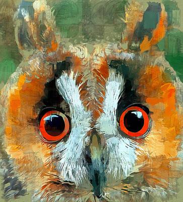 Digital Art - Owl Life 2 by Yury Malkov