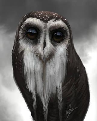 Owl Master Art Print by Alex Ruiz