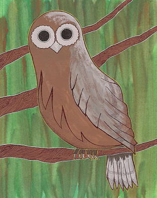 Painting - Owl by Michele Bullock