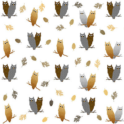 Owl Pattern Print by Christina Rollo