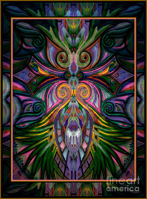 Mixed Media - Owl Queen by Wbk