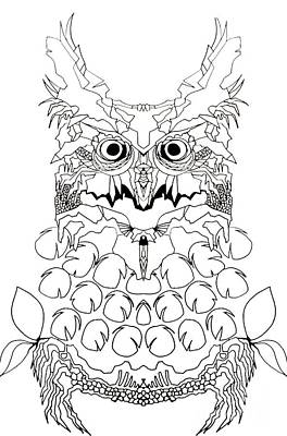Painting - Owl Sketch 2 by Amy Sorrell